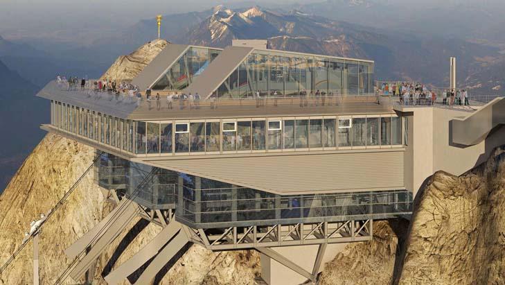 Bergstation van de nieuwe Zugspitzbahn