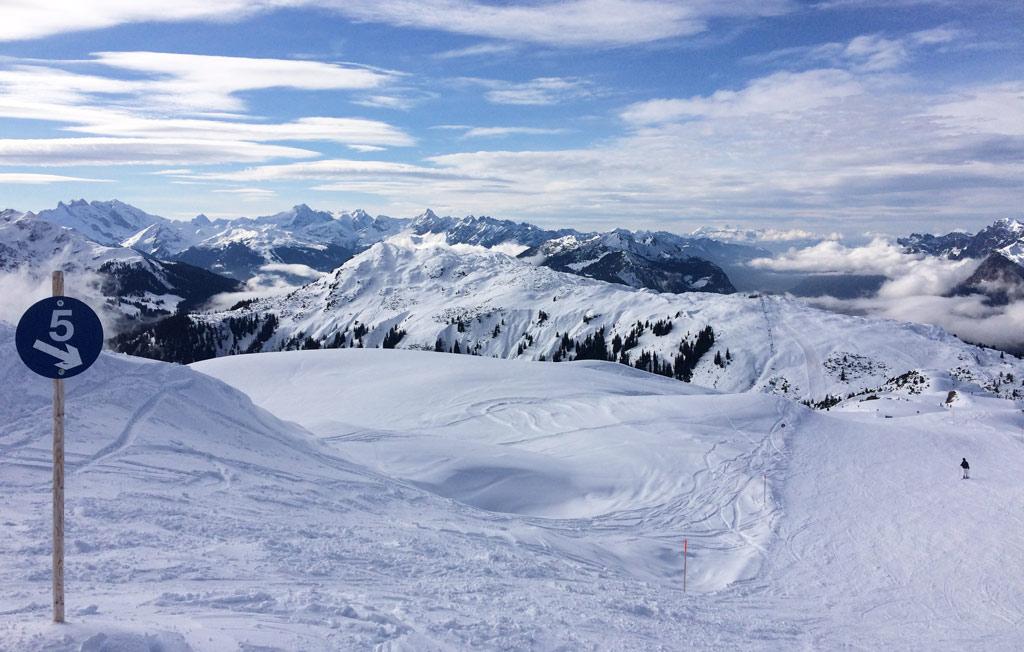 Rustige piste in skigebied Sonnenkopf