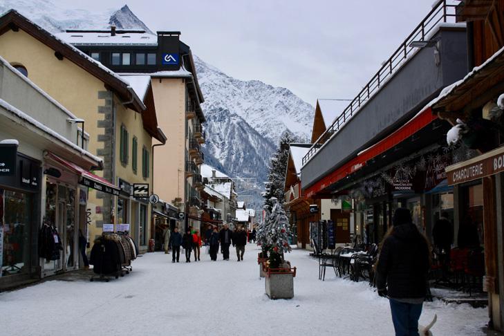 Winkelstraat Chamonix