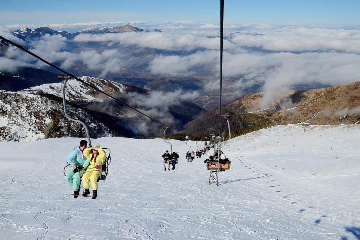Skilift in Brezovica, Kosovo