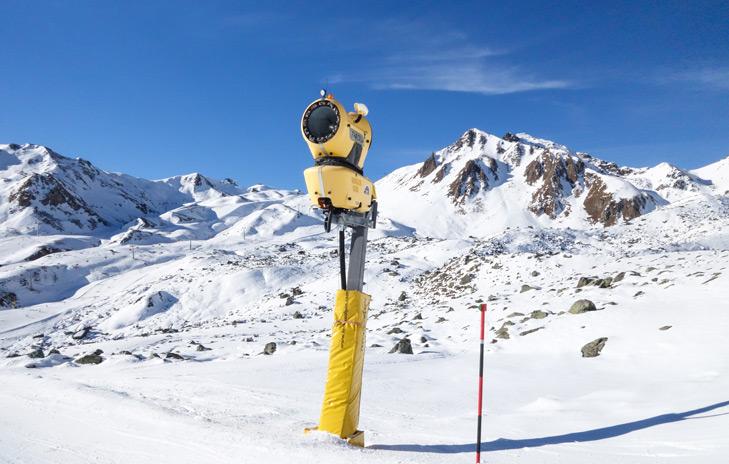 Het skigebied van Ischgl is sneeuwzeker door de hoge ligging en sneeuwkanonnen
