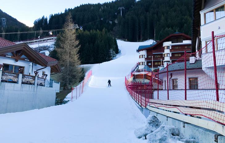 Skiën tot in het dorp: dalafdaling Ischgl