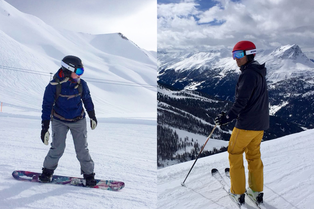 Wintersportdilemma: Skiën of snowboarden