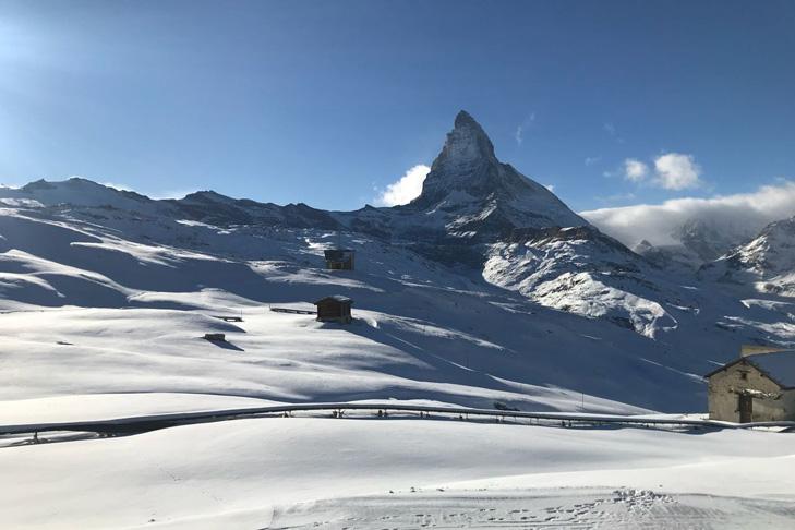 Verse sneeuw in Zermatt