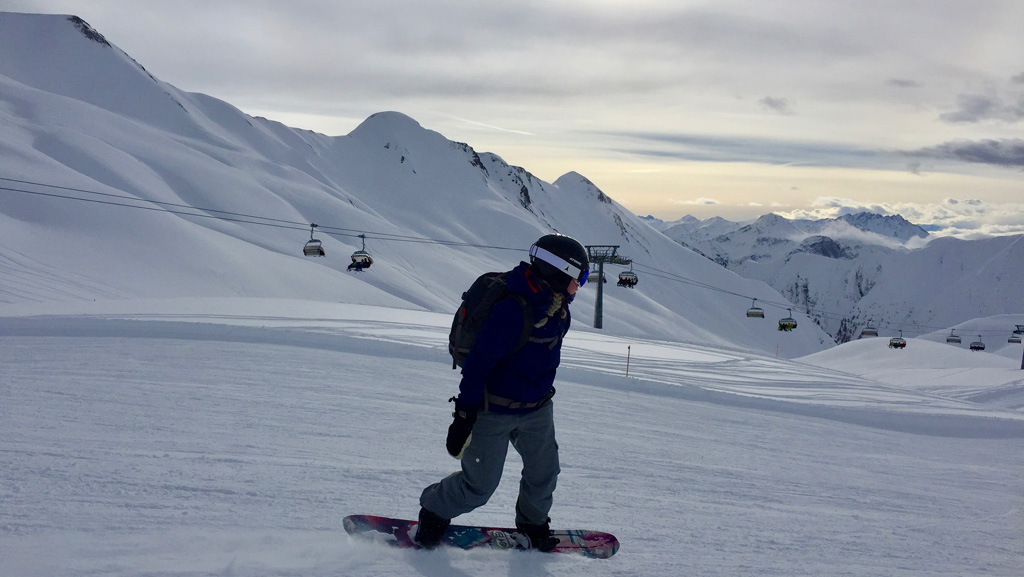 Snowboarden in Serfaus-Fiss-Ladis