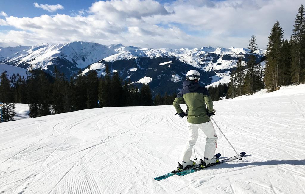 Uitzicht skiën