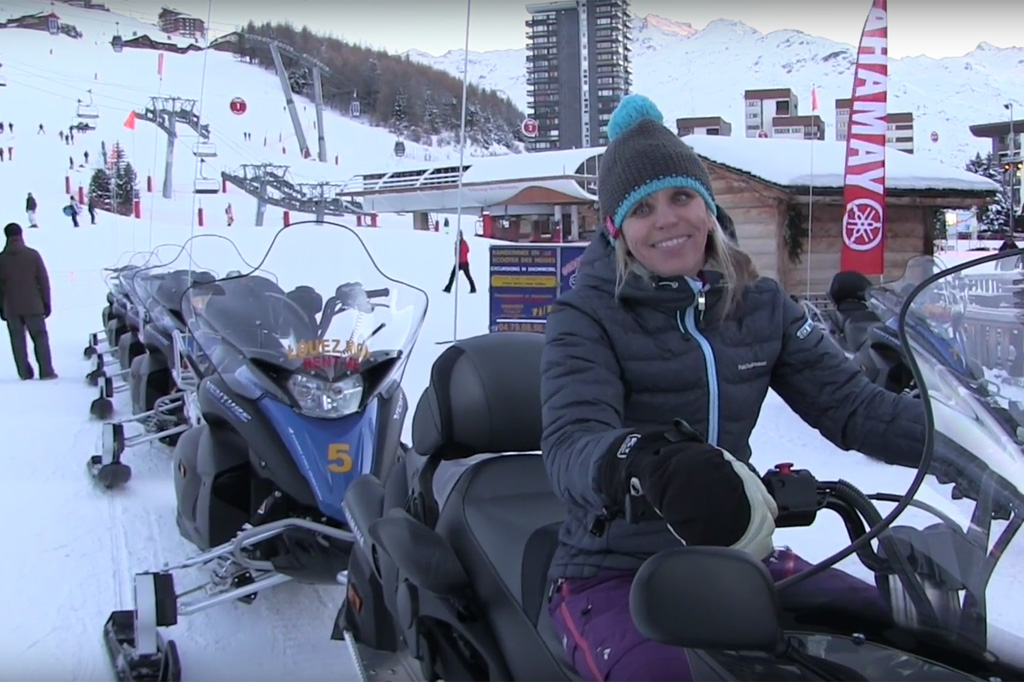Sneeuwscooter rijden in Les Menuires