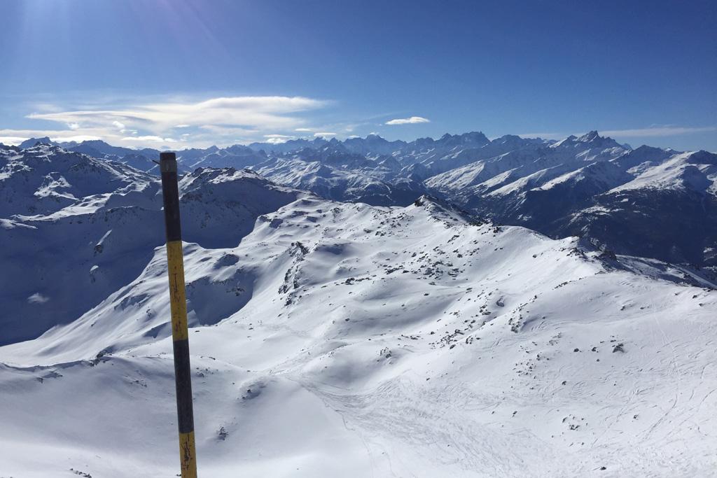 Uitzicht vanaf Pointe de la Masse in Les Menuires
