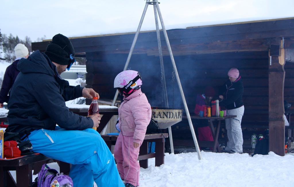 Barbecuen en picknicken op de piste in Noorwegen