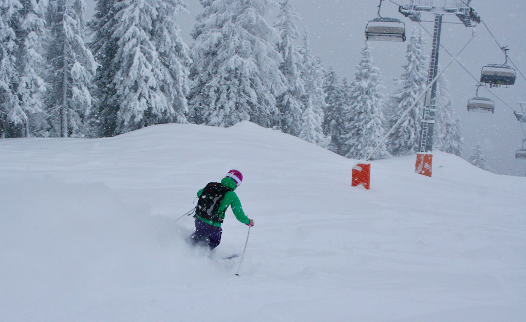Veel verse sneeuw op de piste in Seefeld