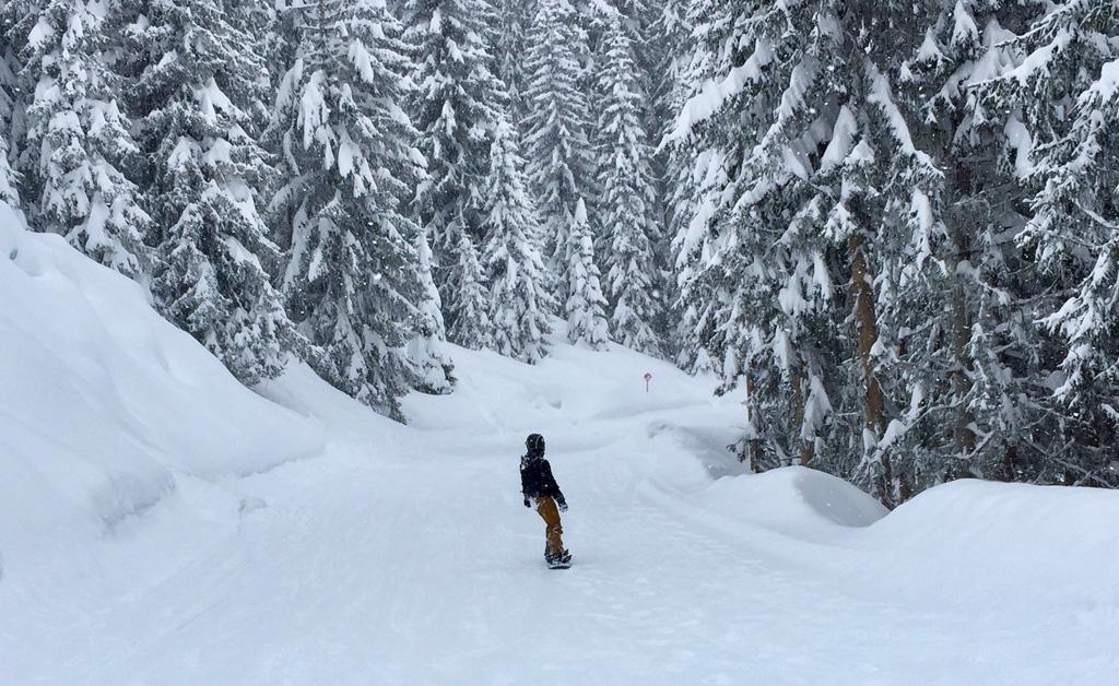 Op de piste in Kappl in de verse sneeuw