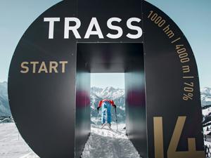 Startboog Trassafdaling op de Schmittenhöhe