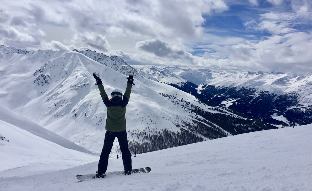 Het gevoel van winter in de bergen