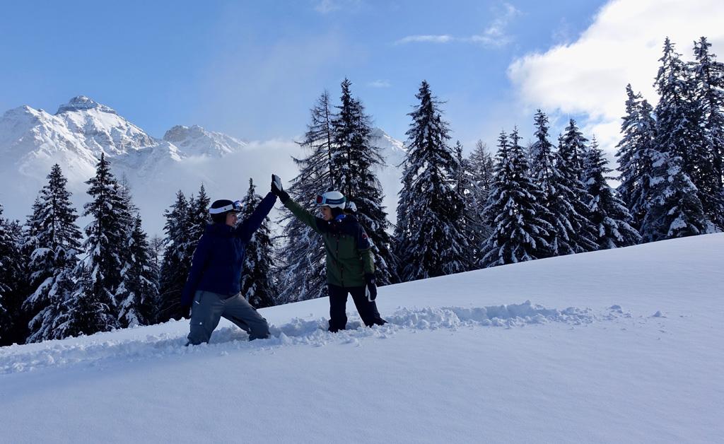 Veel verse sneeuw in de Alpen