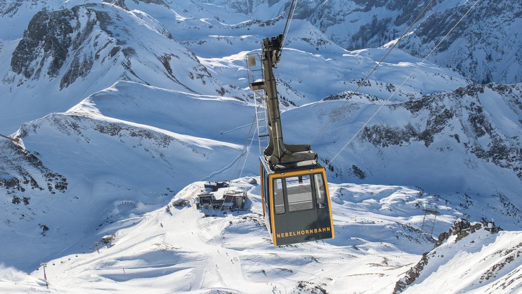 De gondel naar de 2224 meter hoge Nebelhorn