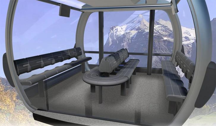 Cabine 3S Eigerexpress naar de Eigergletscher