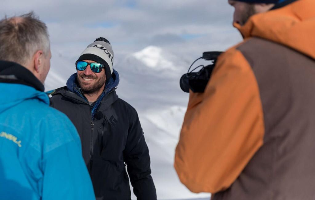 Fabiano Monti in de sneeuw in Livigno