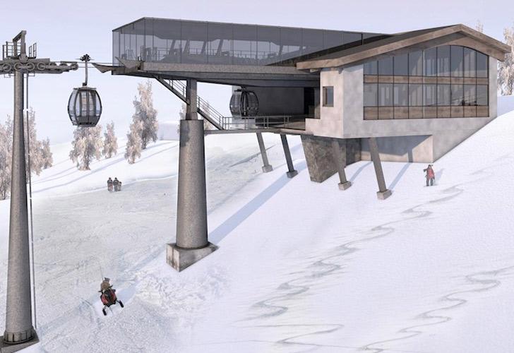 Impressie bergstation Saanerslochbahn