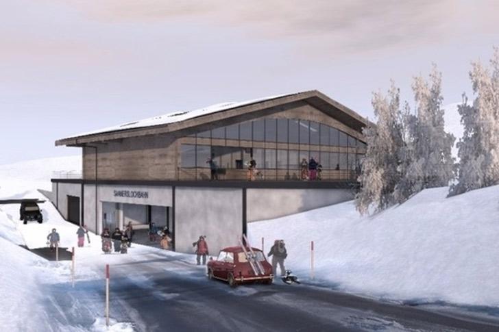 Impressie dalstation Saanerslochbahn in Gstaad