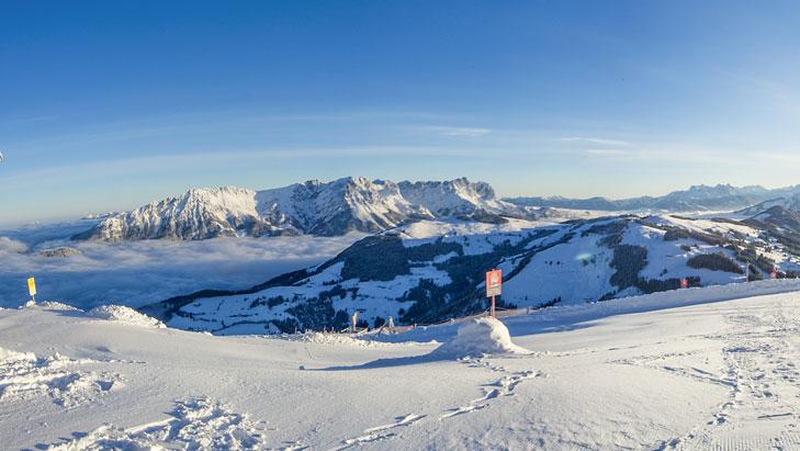 Uitzicht vanaf de Hohe Salve op de Wilder Kaiser
