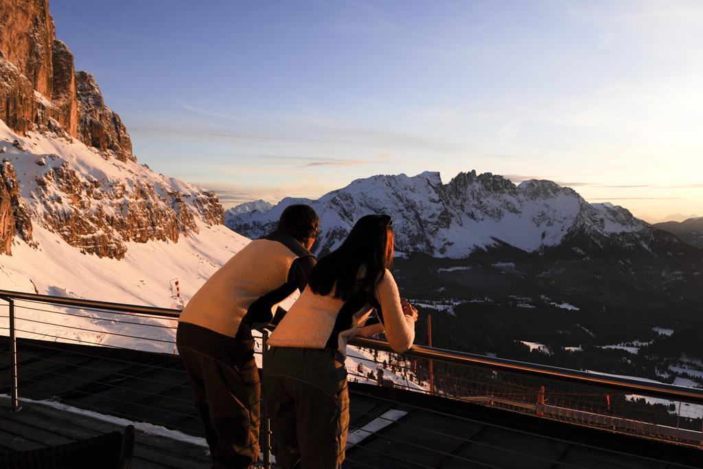 het hoogste panoramarestaurant van Zuid-Tirol: Laurins Lounge in Carezza