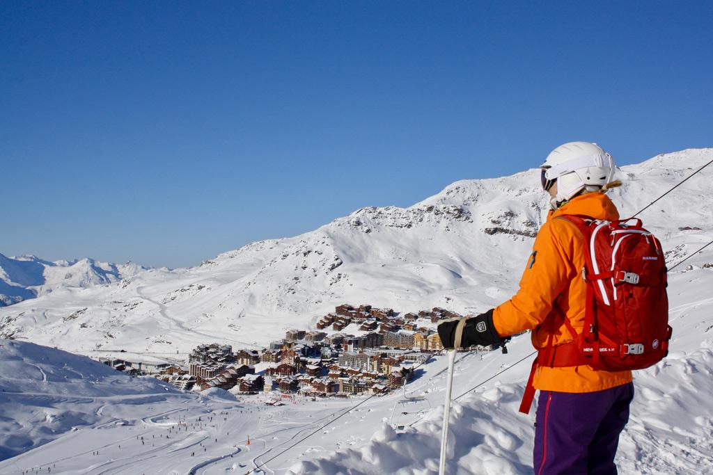 Uitzicht op Val Thorens vanaf de piste