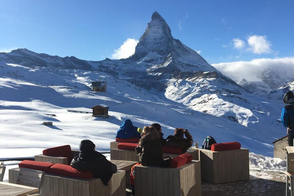 De Matterhorn in Zermatt, Zwitserland