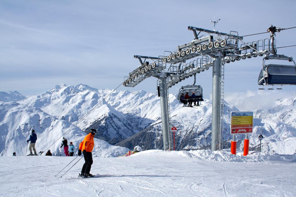 Lift en piste in Ski Arlberg