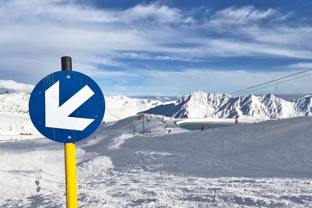 Skigebied voor beginners met veel blauwe pistes