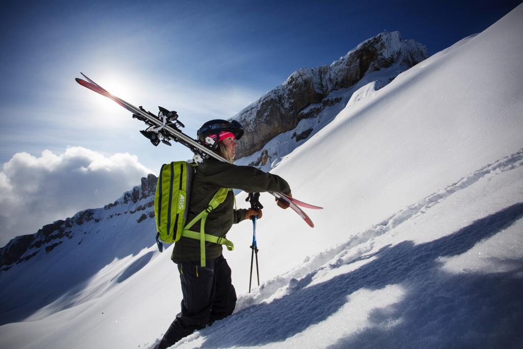 Hiken met ski