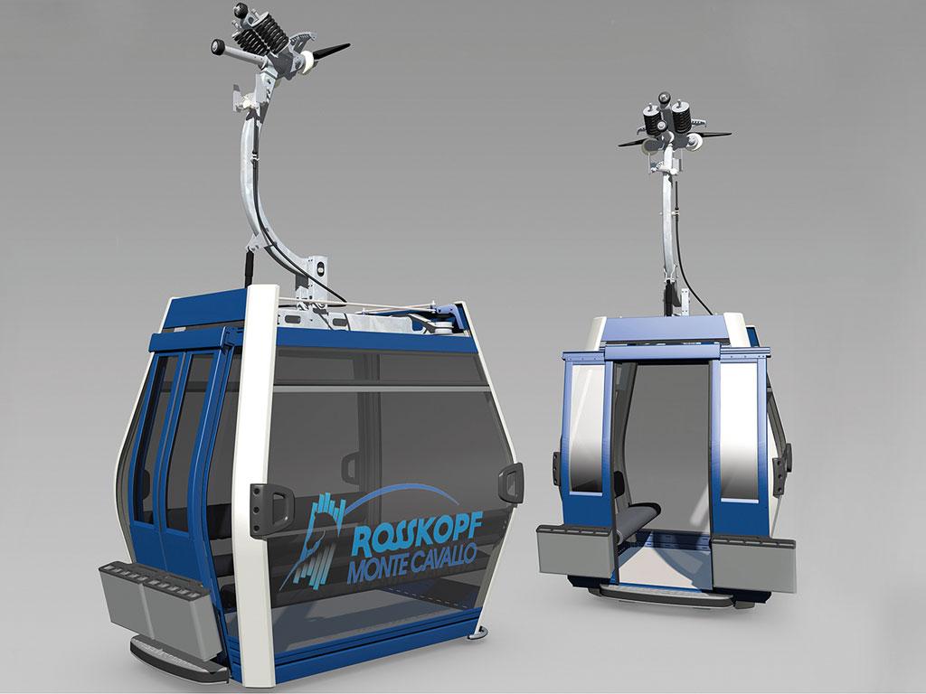 Gondel van de nieuwe Telemix-Panoramalift