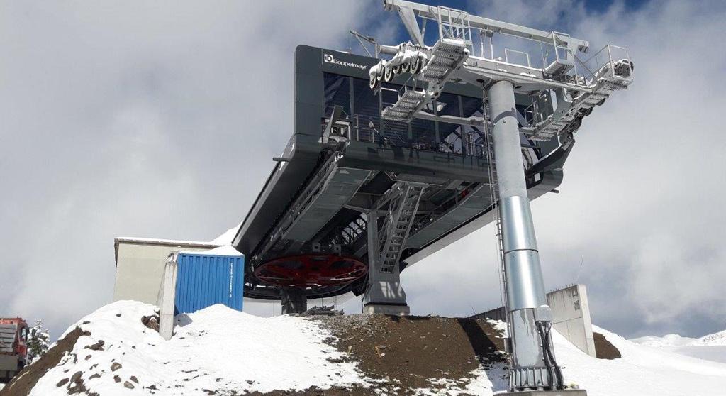 Bergstation van stoeltjeslift Oberdamüls