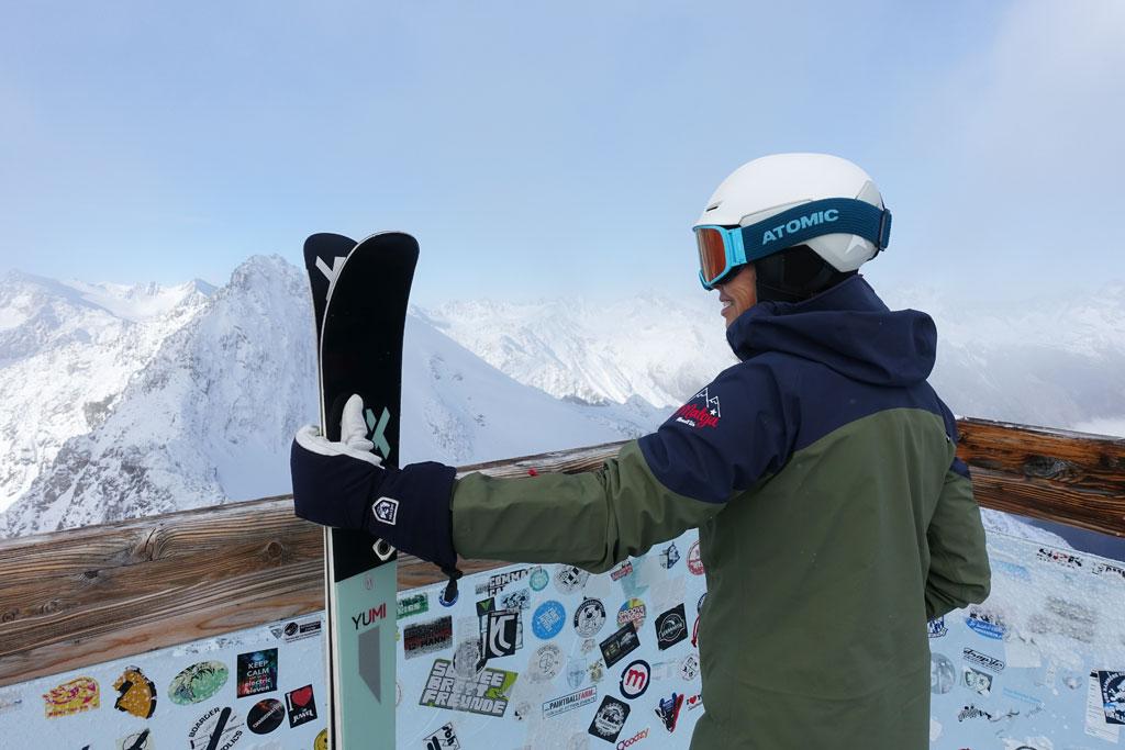 Uitzichtpunt op de gletsjer in Sölden
