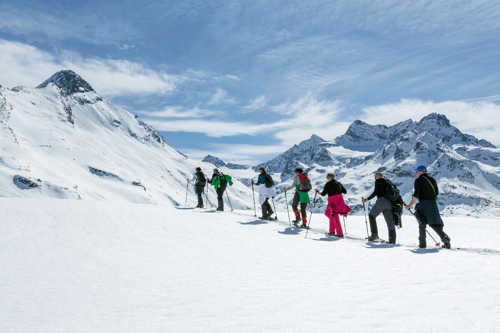 Sneeuwschoenwandelen in het Montafon