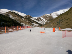 Lack of snow on ski slopes