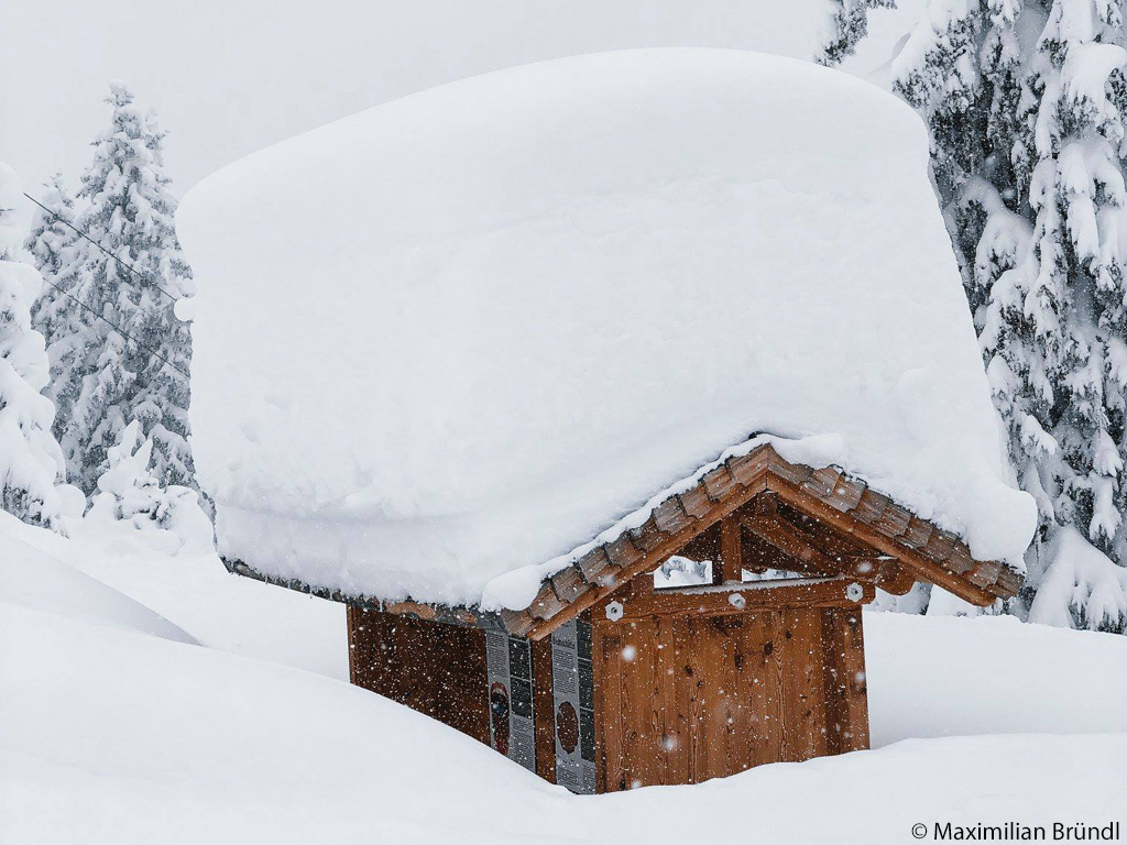 House buried under three metres of snow