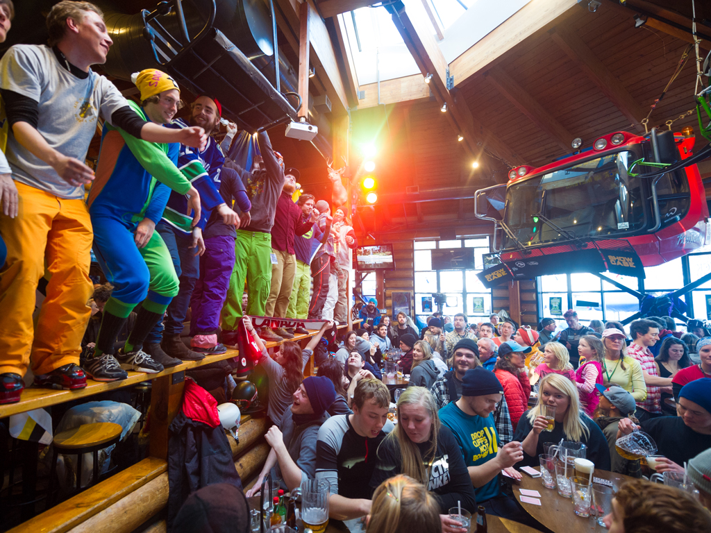 Après-Ski-Bar Party Whistler Kanada