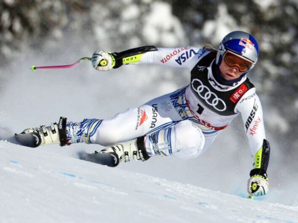 Lindsey Vonn racing