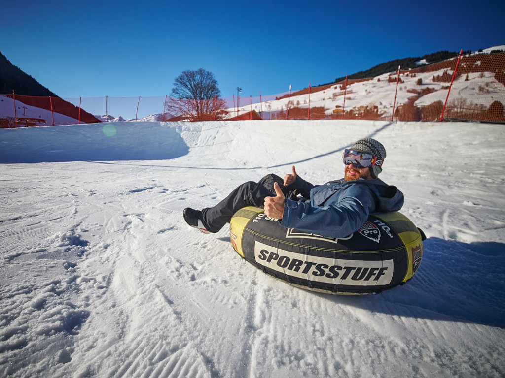 Snow-tubing at the Skicircus