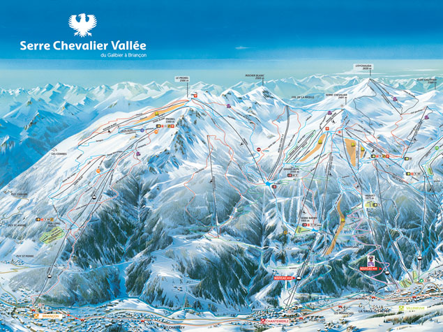 Serre Chevalier Piste Map Briançon piste map
