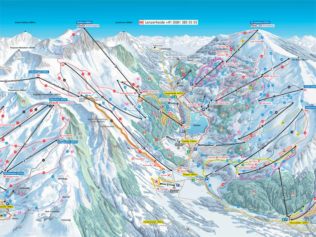 Piste map Arosa Lenzerheide