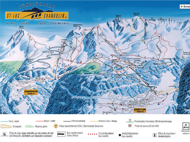 Piste map St. Luc-Chandolin