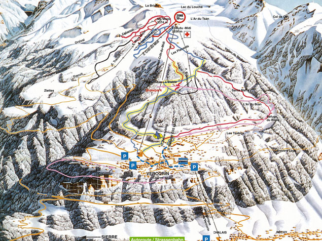 Piste map Vercorin