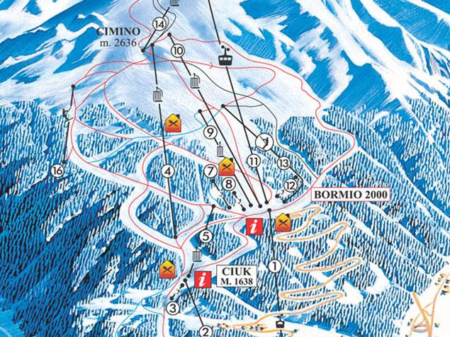 Bormio Italy Map.Ski Map Bormio Santa Caterina Italy