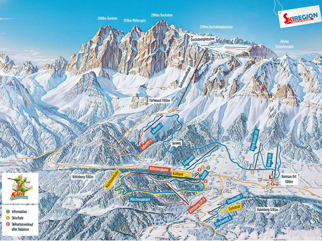 Piste map Skiregion Ramsau am Dachstein