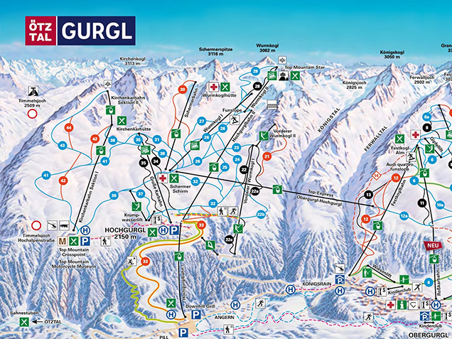 Piste map Gurgl