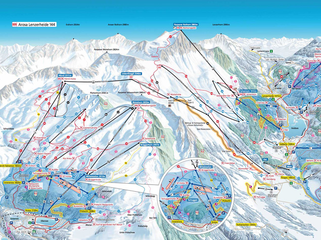 Piste map Arosa - Lenzerheide