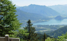 Vakantie aan de Wolfgangsee: uitzichtpunt Wolfgangsee