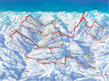 The Challenge piste map