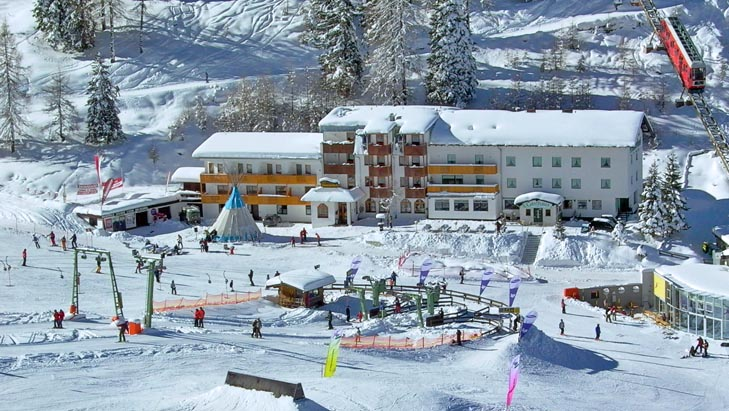 Ski village at Axamer Lizum